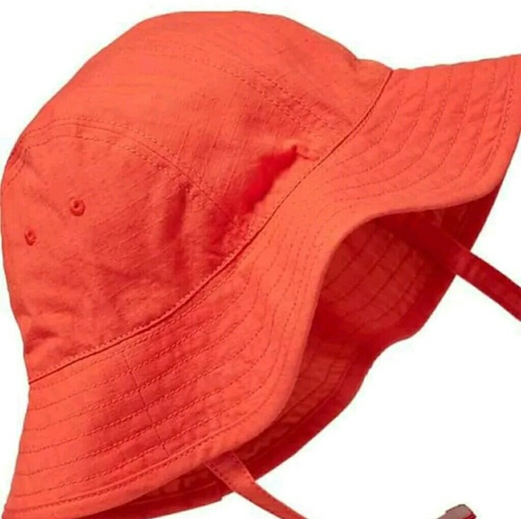 Baby Girls Old Navy Orange Sun Hat Wide Brim aa26ec65595